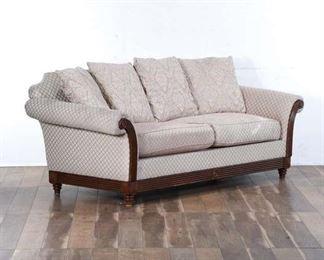 Federal Ivory Damask Sofa