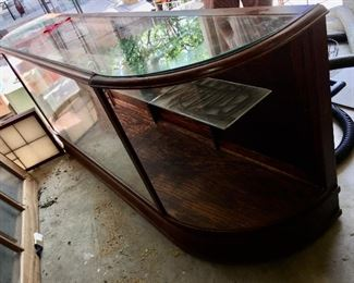 8' antique wood and glass grocery or department store display cabinet (you will find another photo at the beginning of the jewelry photos)