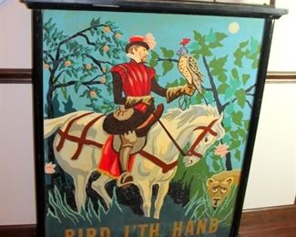 RARE Double Sided English Pub Sign - Hand Painted