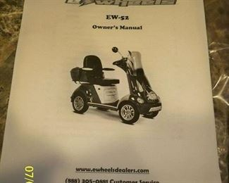 e-Wheels EW-52 Mobility cart with canopy.