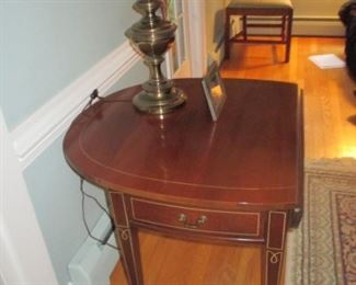 Pair of Inlaid Sheraton Pembroke Drop Leaf Table