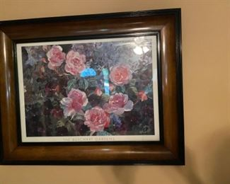 Framed Roses Picture