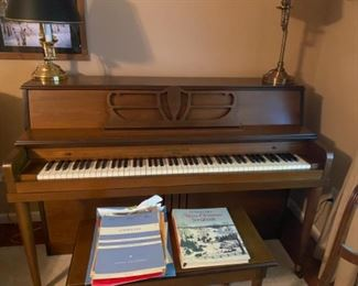 Grinnell Piano and Bench. Very nice