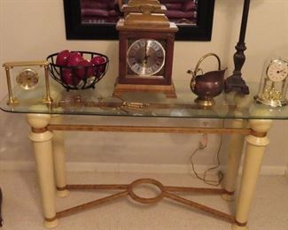 1980's Glass Top Console