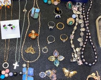 VINTAGE AND STERLING SILVER JEWELRY