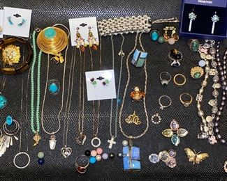 VINTAGE, DESIGNER AND STERLING JEWELRY