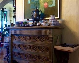 John Widdicomb  Carved/Painted Chest