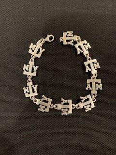Texas ATM sterling charm Bracelet