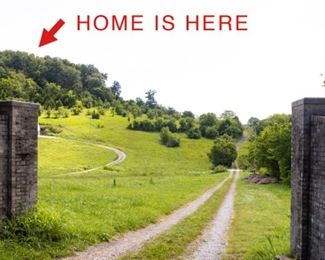 Home located at top of gravel drive. Don't want to drive to the top? Simply ask our assistant if someone is available to transport you up and back down!
