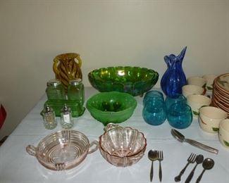 Misc glassware, depression, etc.