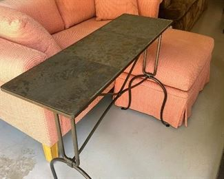 Nice slate tile side table 36l x 28 h x 15 deep.  $65. Slashed. $30