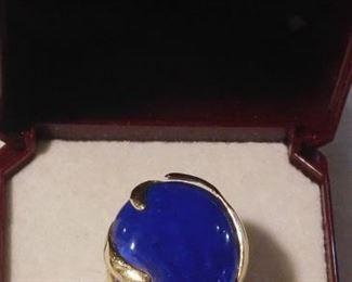 14 k Blue Tourmaline Ring