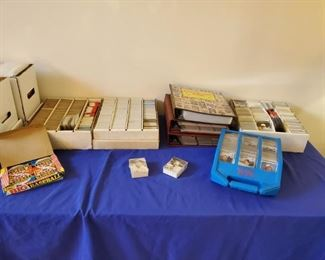 Tons of baseball cards! Lots of HOF rookies, unopened packs from 30+ yrs ago, and more in here!