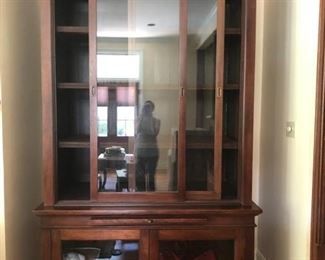 """Large den cabinets 2 available Tiger mahogany 34.5"""" deep x 59"""" wide x 96"""" tall"""