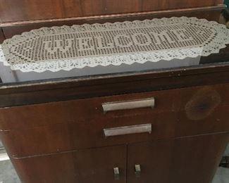 Vintage 1940's art deco dental dentist's medical cabinet