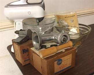 Vintage KitchenAid Golden Anniversary Mixer with Attachments/Accessories