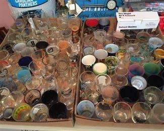 Assorted Souvenir/Collectible Shot Glasses
