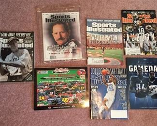 Assorted Sports Illustrated Magazines and Football Programs