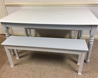Table with Bench Seating