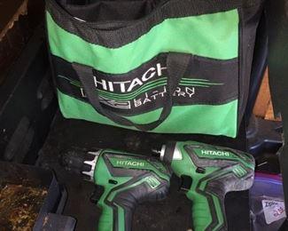 Hitachi Drill/Hammer Drill Set