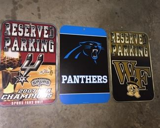 Athletic Fan Parking Signs