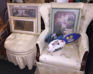 Prints, Chairs, Collectible Footballs