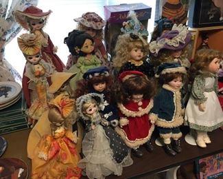 Bradley Boudoir Dolls & Assorted Other Dolls