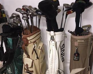 Assorted Golf Clubs
