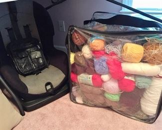 Child's Car Seat, Large Yarn Collection