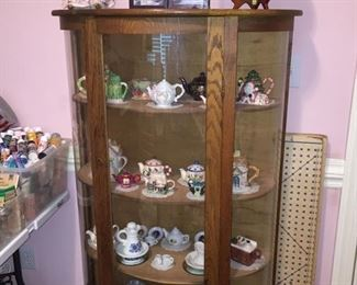 Dome Display Cabinet, Collectible Teapots