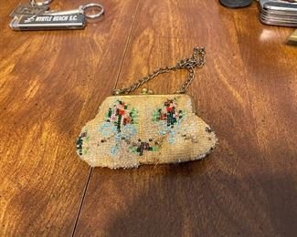 Small Bead Decorated Purse