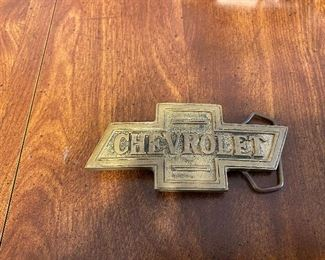 Brass Chevrolet Belt Buckle