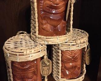 Set of Tiki Mugs