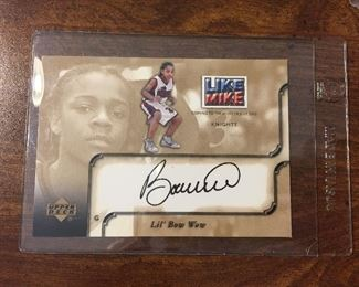 Upper Deck Lil' Bow Wow Autographed Card