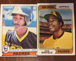 Ozzie Smith and Dave Winfield Rookie Cards