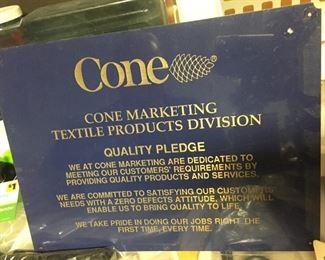 Cone Mills Quality Pledge Plaques