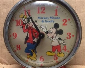 Bradley Mickey Mouse and Goofy Alarm Clock(Working)