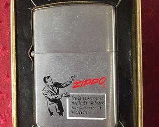 1970's Zippo Salesman Sample Lighter in Box