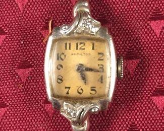 Hamilton 14K White Gold Ladies Watch
