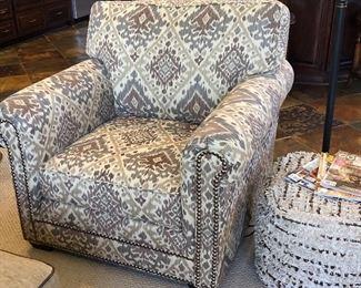 Comfort Design Arm Chair, Jorge Pouf Ottoman