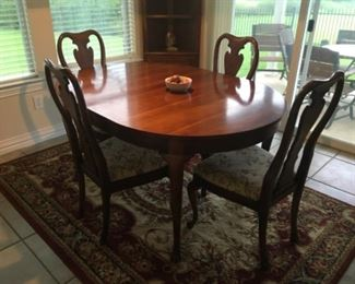 Thomasville dining table and four chairs  $350