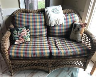 1 of a pair of indoor/outdoor loveseats from Chestnut Hall