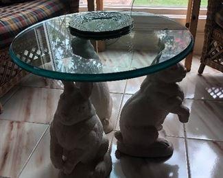 Triple bunny table