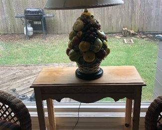 Table and fruit lamp from Chestnut Hall