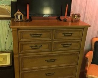 Matching tall chest of drawers by White Fine Furniture.