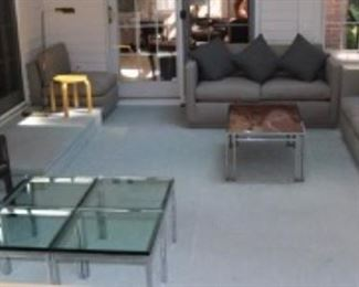 Knoll Glass top Tables MCM Furniture