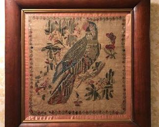 Late 1800's Parrot Sampler