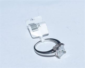 112. Silver and Synthetic Stone Ring