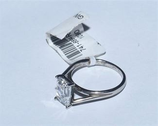 113. Silver and Synthetic Stone Ring