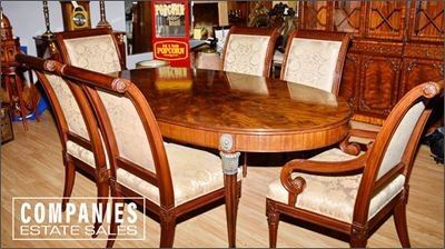 1. Council Craftsman Classical Style Mahogany Table Six Chairs over 12K Retail